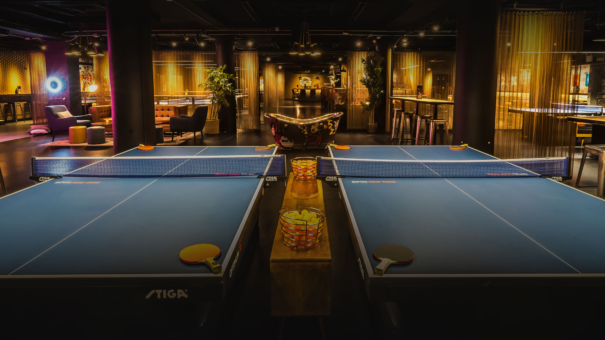 Ping pong or a drink at the bar?